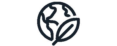 leaf on world icon